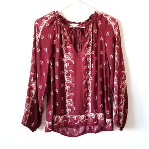 Lucky Brand Cranberry Boho Peasant Tie N
